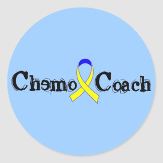 Chemo Coach - Yellow Ribbon Testicular Cancer Classic Round Sticker