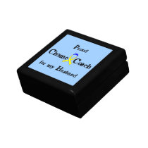 Chemo Coach - Yellow Ribbon Testicular Cancer Jewelry Box