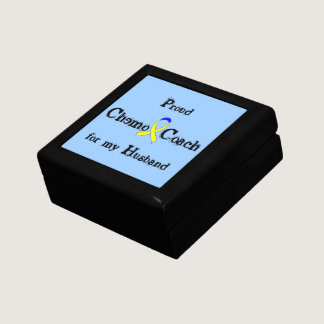 Chemo Coach - Yellow Ribbon Testicular Cancer Jewelry Box