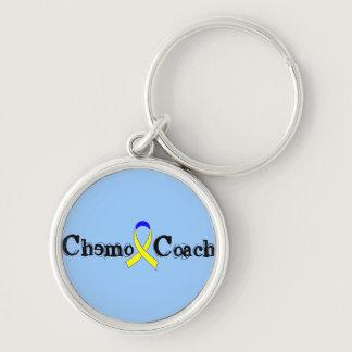 Chemo Coach - Yellow Ribbon Testicular Cancer Keychain