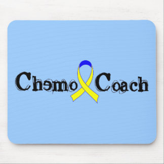 Chemo Coach - Yellow Ribbon Testicular Cancer Mouse Pad
