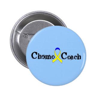 Chemo Coach - Yellow Ribbon Testicular Cancer Pinback Button