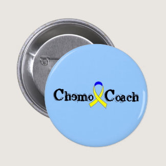 Chemo Coach - Yellow Ribbon Testicular Cancer Pinback Button