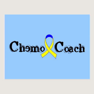 Chemo Coach - Yellow Ribbon Testicular Cancer Postcard