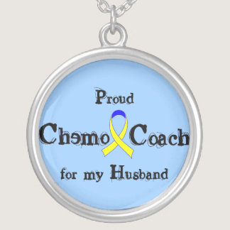 Chemo Coach - Yellow Ribbon Testicular Cancer Silver Plated Necklace
