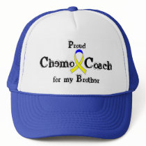 Chemo Coach - Yellow Ribbon Testicular Cancer Trucker Hat