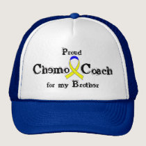 Chemo Coach - Yellow Ribbon Testicular Cancer Trucker Hat