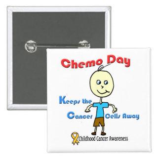 Chemo Day Boy Button