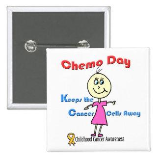 Chemo Day Girl Button