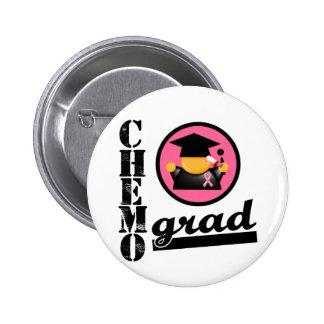 Chemo Grad Breast Cancer Ribbon Pinback Button