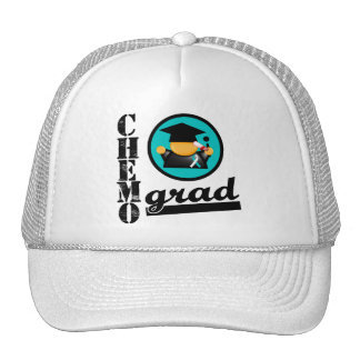 Chemo Grad Cervical Cancer Ribbon Trucker Hat