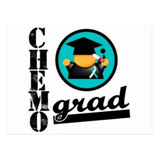 Chemo Grad Cervical Cancer Ribbon Postcard