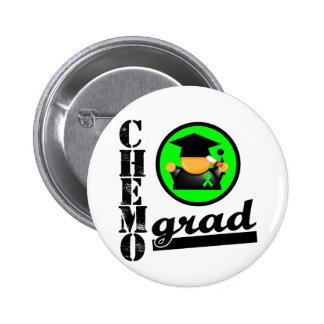 Chemo Grad Lymphoma Ribbon Button