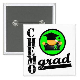 Chemo Grad Non Hodgkins Lymphoma Ribbon 2 Inch Square Button