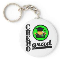 Chemo Grad Non Hodgkins Lymphoma Ribbon Basic Round Button Keychain