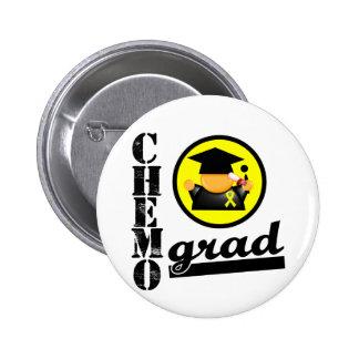Chemo Grad Testicular Cancer Ribbon Button