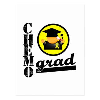 Chemo Grad Testicular Cancer Ribbon Postcard