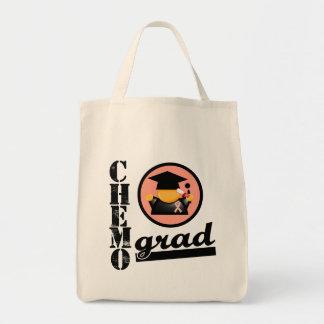 CHEMO GRAD Uterine Cancer Ribbon Canvas Bag