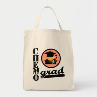 CHEMO GRAD Uterine Cancer Ribbon Tote Bag