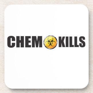 Chemo mata a campaña posavasos de bebida