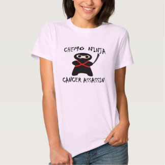 Chemo Ninja Kills Breast Cancer Pink Tee Shirt