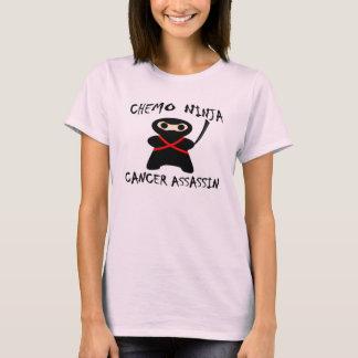 Chemo Ninja mata a rosa del cáncer de pecho Playera