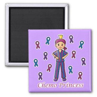 Chemo Princess 2 Inch Square Magnet