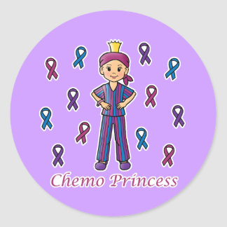 Chemo Princess Classic Round Sticker