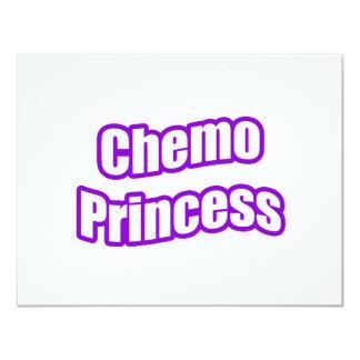 Chemo Princess (Purple) 4.25x5.5 Paper Invitation Card