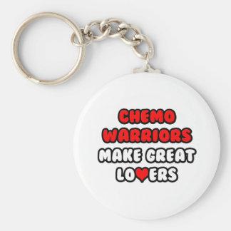 Chemo Warriors Make Great Lovers Basic Round Button Keychain
