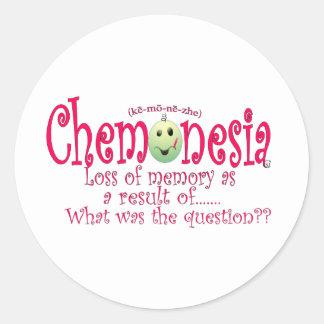 chemoblackPINK (1) Pegatina Redonda