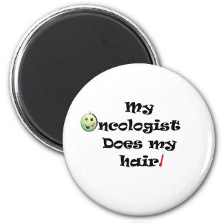 ChemoHair Blk Ltrs 2 Inch Round Magnet