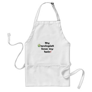 ChemoHair Blk Ltrs Adult Apron