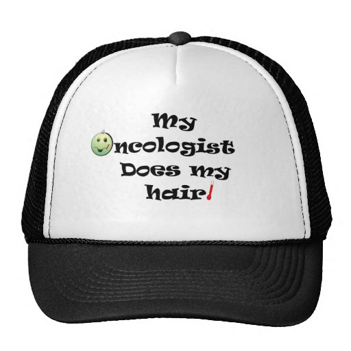ChemoHair Blk Ltrs Trucker Hat