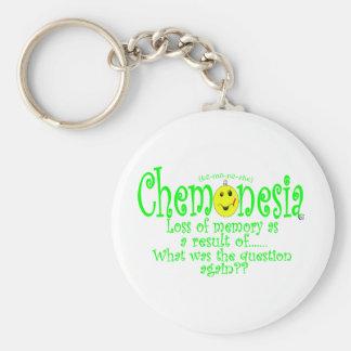 chemoNEON Basic Round Button Keychain