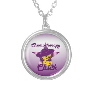 Chemotherapy Chick #9 Silver Plated Necklace