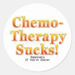 Chemotherapy Sucks! Round Stickers