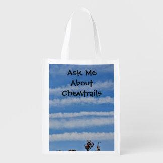 Chemtrail Awareness Shopping Bag