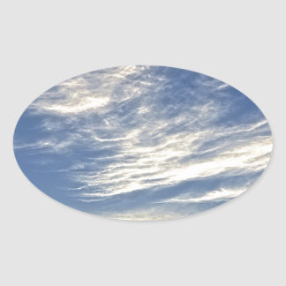 chemtrail clouds oval sticker