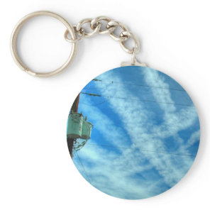 Chemtrail Grid In The Sky Keychain