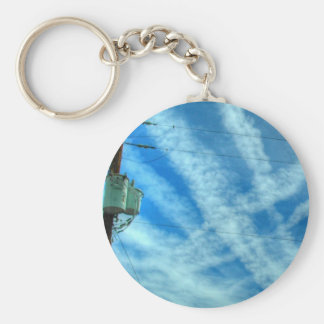 Chemtrail Grid In The Sky Key Chains