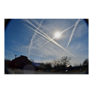 Chemtrail Sky Poster