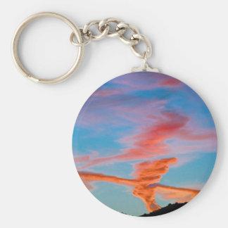 Chemtrail Sunset Keychain