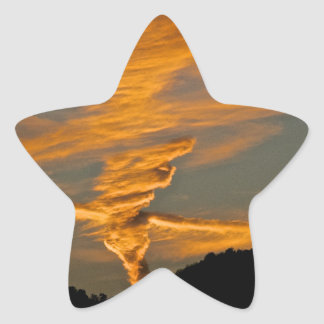 Chemtrail Sunset Star Stickers