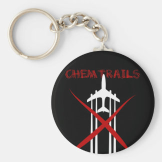 Chemtrails Are Wrong on black Keychain