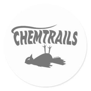 CHEMTRAILS DEATH DUMPS CLASSIC ROUND STICKER