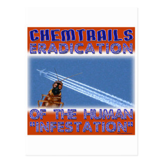 Chemtrails - Eradication of the Humans Postcard