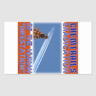 Chemtrails - Eradication of the Humans Rectangle Sticker