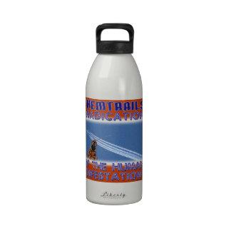 Chemtrails - erradicación de los seres humanos botella de beber