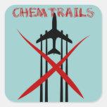 Chemtrails es incorrecto pegatinas cuadradas personalizadas